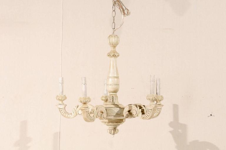 French five light beige and cream colored chandelier for sale at 1stdibs french five light beige and cream colored chandelier in good condition for sale in atlanta aloadofball Gallery