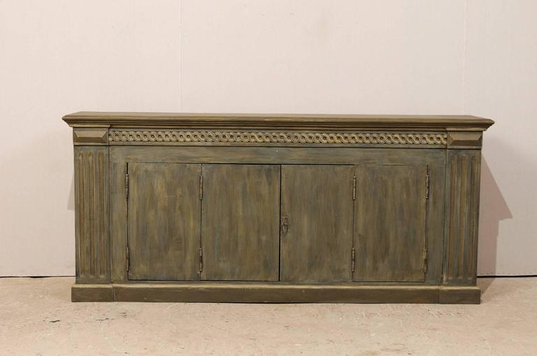 Brazilian Painted Wood Enfilade Or Buffet Cabinet