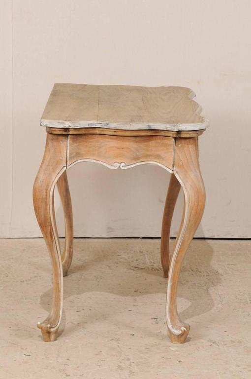 brazilian wood accent end side table with painted trim and cabriole legs for sale at 1stdibs. Black Bedroom Furniture Sets. Home Design Ideas