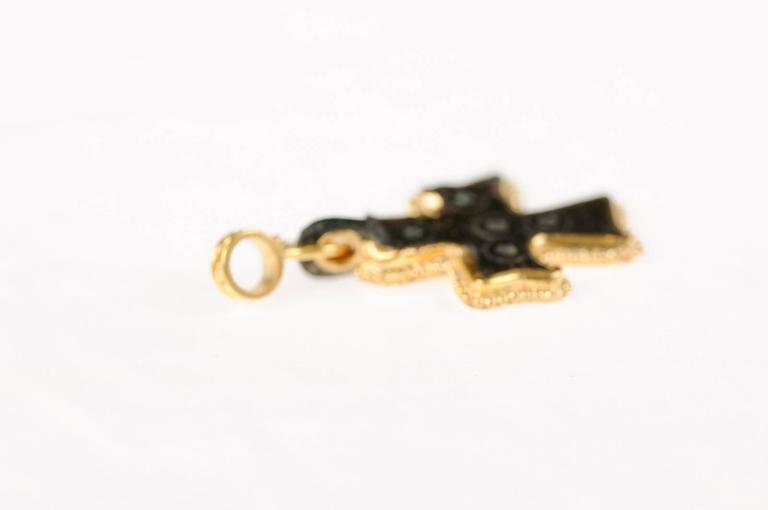 Authentic Byzantine Era Roman Bronze Cross Made Necklace