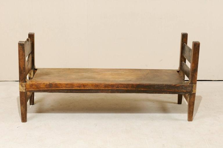 A Brazilian Single Hide And Wood Daybed Or Bench This From The Mid