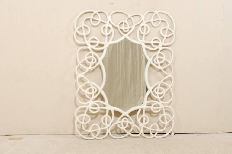 Large Wall Mirror With Intricate Twisting Vine Like