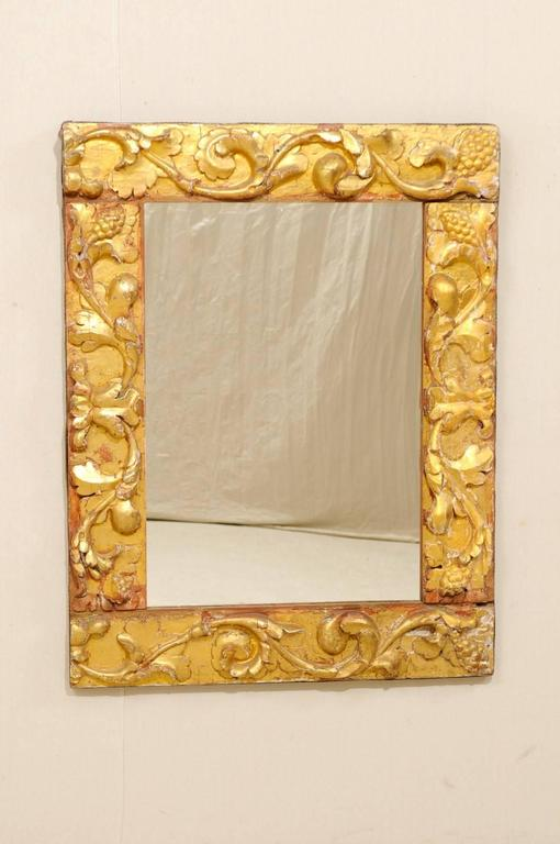 Exquisite Italian Giltwood Carved Mirror of 19th Century Italian Fragments In Good Condition For Sale In Atlanta, GA