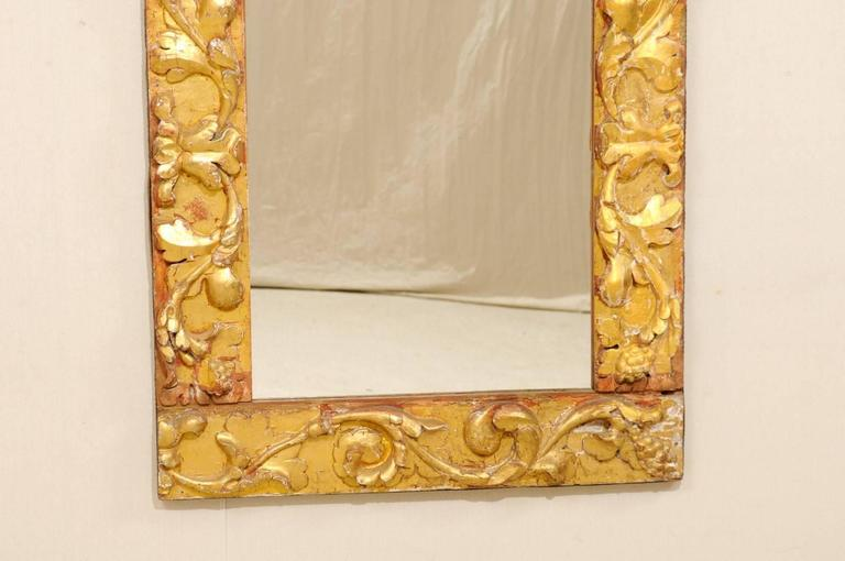 Exquisite Italian Giltwood Carved Mirror of 19th Century Italian Fragments For Sale 1