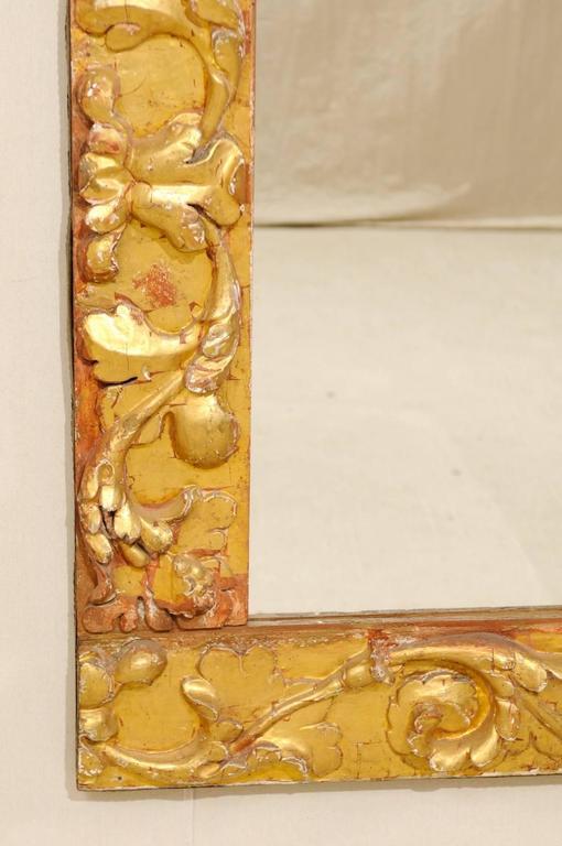 Exquisite Italian Giltwood Carved Mirror of 19th Century Italian Fragments For Sale 3