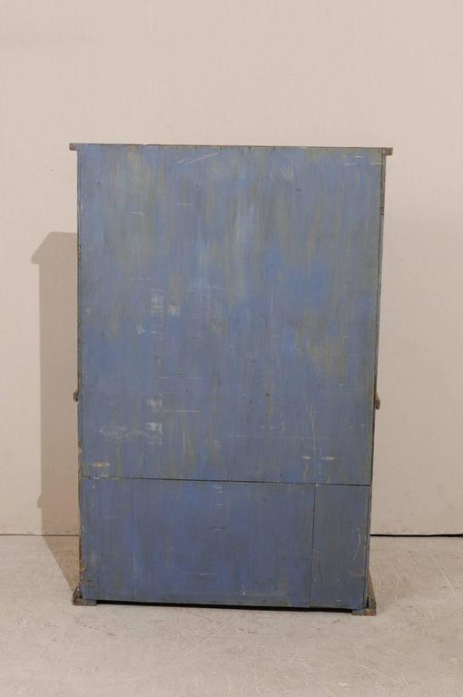 19th Century Period Gustavian, Swedish Painted Wood Cabinet with Plate Rack For Sale 6