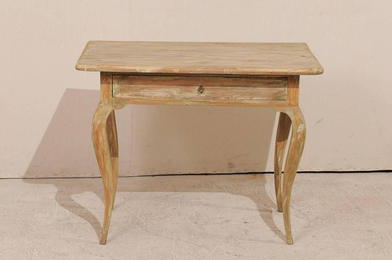 Period Rococo Painted Wood Side Table From The Th Century With - Rococo side table