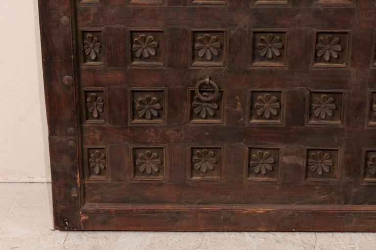 Large 19th Century Carved Wood Ceiling Panel from Tamil Nadu, South India For Sale 2