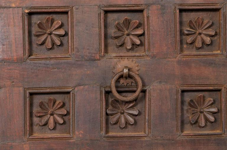 Large 19th Century Carved Wood Ceiling Panel from Tamil Nadu, South India For Sale 3