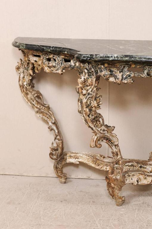 French 18th century rococo period richly carved wood and for French rococo period