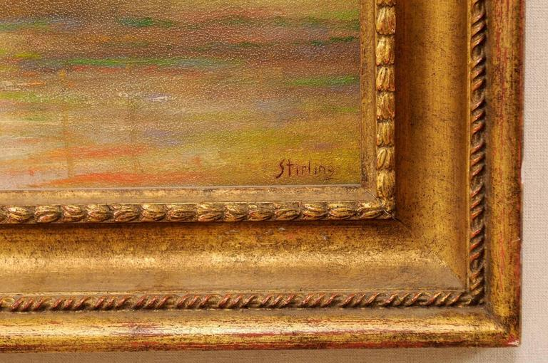 David Sterling, American Artist Oil Painting in Frame of Romantic Mountain Scene For Sale 1