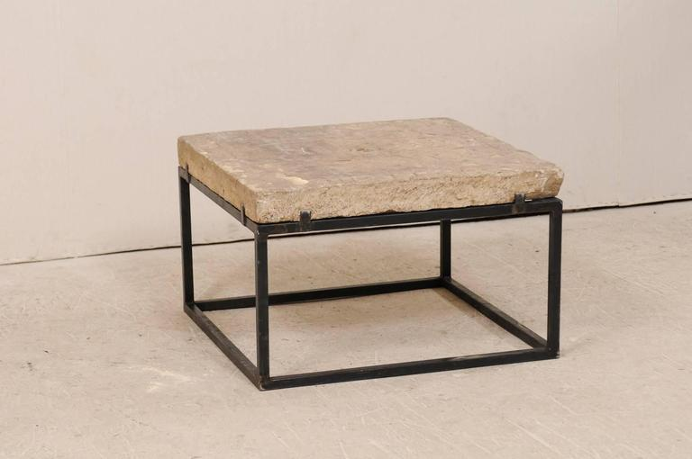 An 18th Century Spanish Carved Stone Top Coffee Table. This Exquisite  Square Shaped Coffee