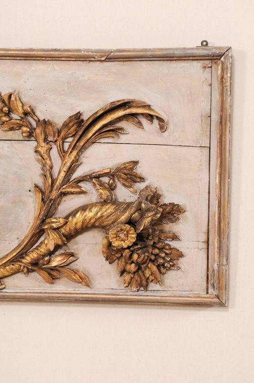 18th Century Italian Wood Carved Wall Plaque with Gold and ...