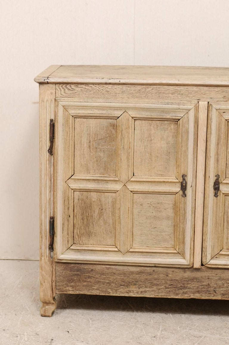 French 18th Century Bleached Oak Wood Cabinet With Clean