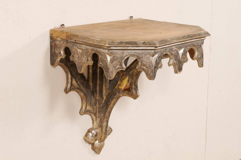 italian wall mounted small table from the early 19th century metallic accent for sale at 1stdibs. Black Bedroom Furniture Sets. Home Design Ideas