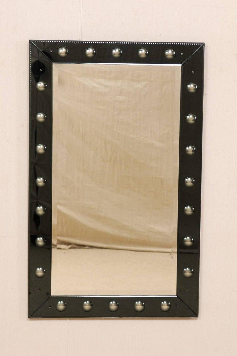 Elegant Vintage Black Rectangular Wall Mirror With