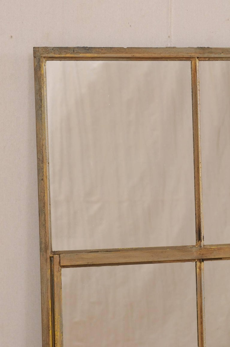 A French Early 20th Century Paneled Metal Mirror This Antique Features Large