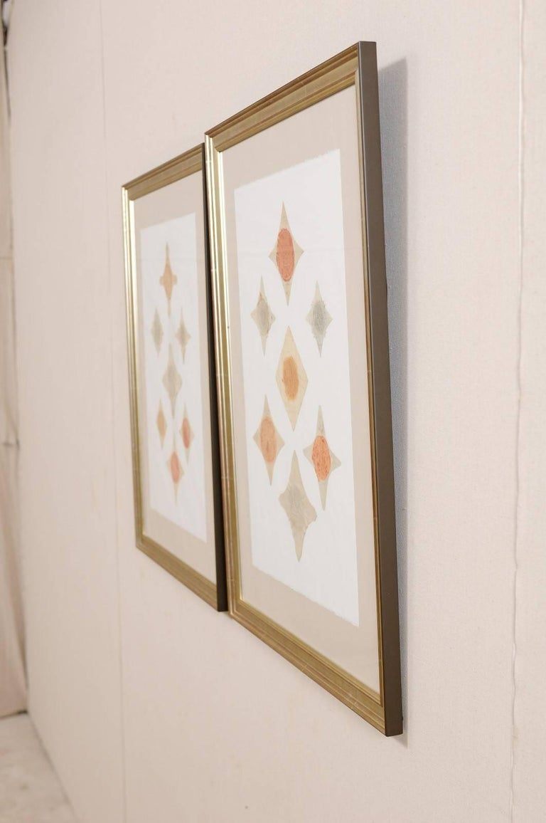 Pair of Framed Original 18th Century Swedish Seals Cut and Placed Artfully For Sale 4