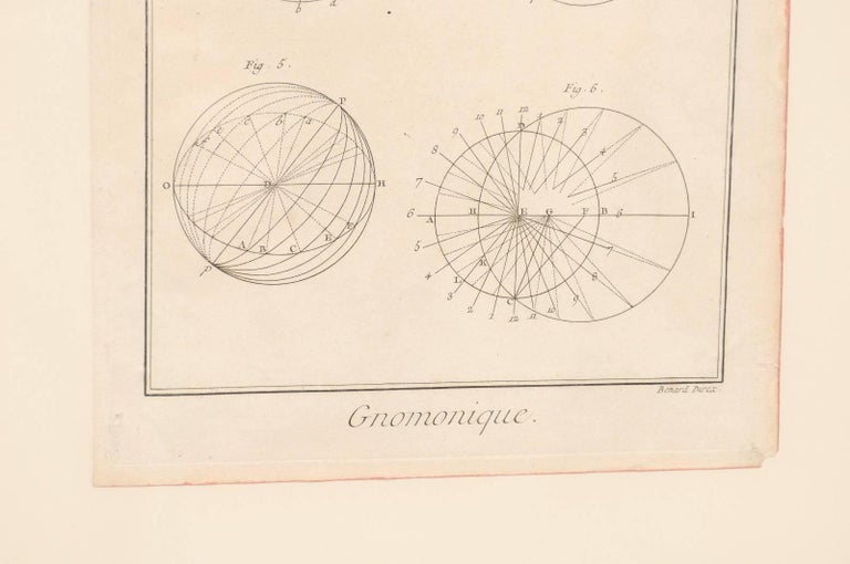 Pair of 18th Century French Framed Bernard Direx Astronomy / Geometric Rendering For Sale 3