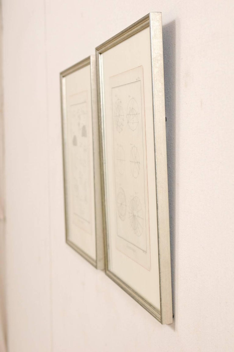 Pair of 18th Century French Framed Bernard Direx Astronomy / Geometric Rendering For Sale 4