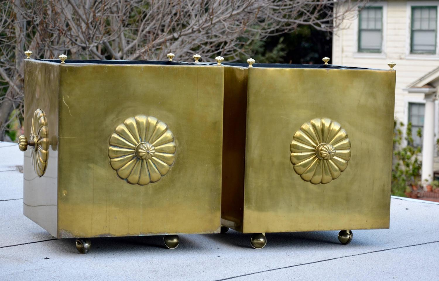 Large And Decorative Brass Planters For Sale At 1stdibs