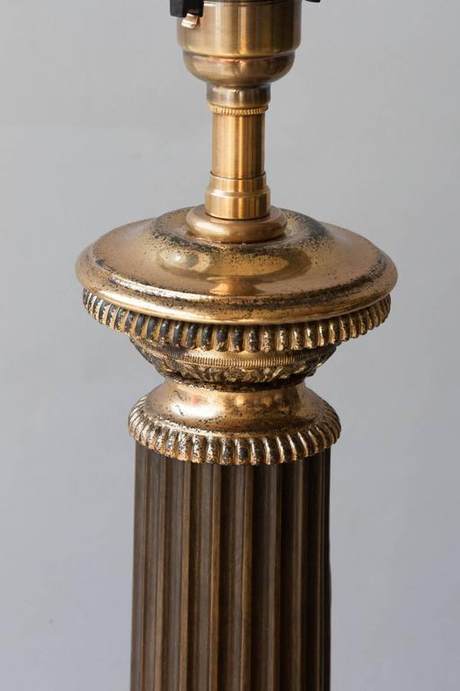 Early 19th Century Tole and Gilt Bronze French Carcel Table Lamp 4