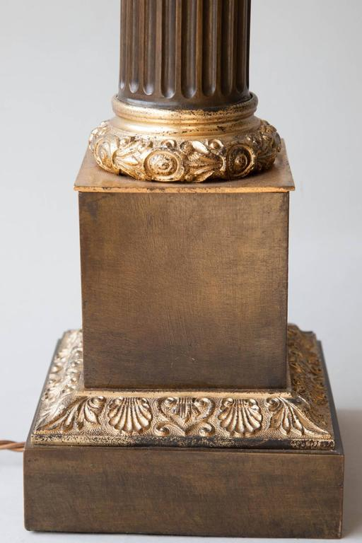 Early 19th Century Tole and Gilt Bronze French Carcel Table Lamp 8