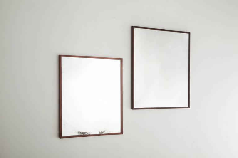 Mid-20th Century Mirror in jacaranda by Joaquim Tenreiro, Brazil, 1950s For Sale