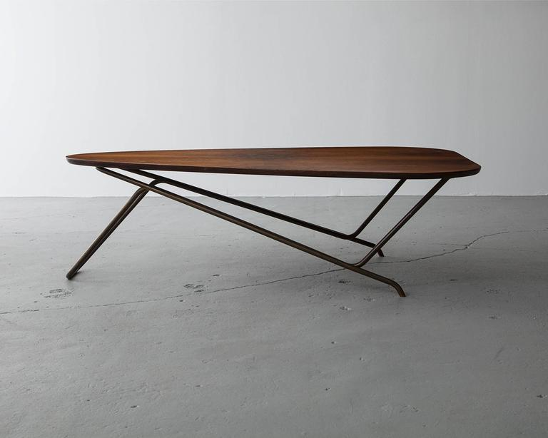 Veneer Wood Coffee Table by Greta Magnusson Grossman, USA, 1952 For Sale