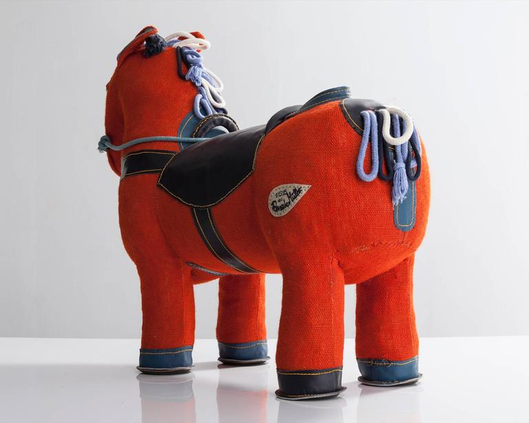 """""""Therapeutic Toy"""" Magic Horse in Orange Jute by Renate Müller, 2015 In Excellent Condition For Sale In New York, NY"""