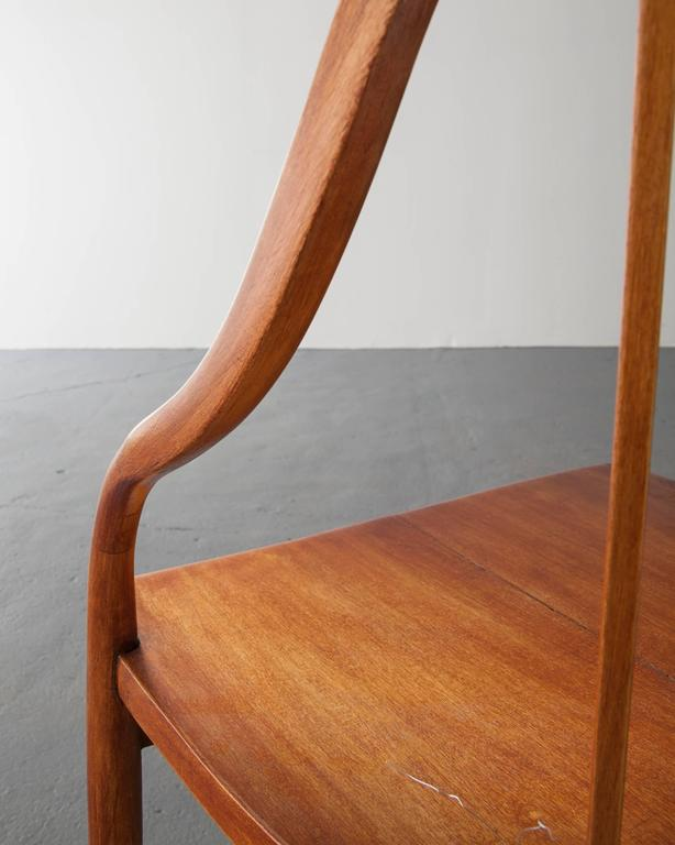 Side Chair in Pau Marfim with Undulating Armrests by Joaquim Tenreiro, 1948 For Sale 1