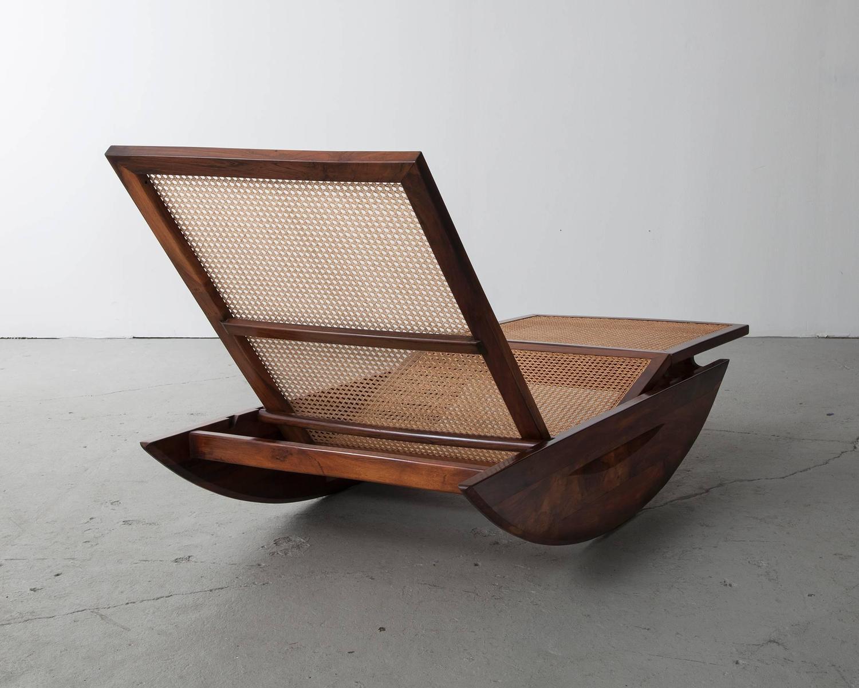 Chaise longue rocking chair by joaquim tenreiro brazil 1947 for - Chaise rocking chair ...
