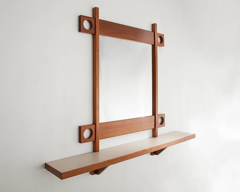Console in caviona with mirror from the
