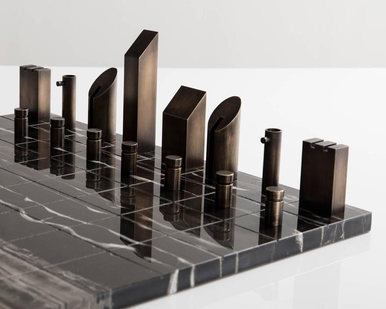 Contemporary Chess Set by Gabrielle Shelton, USA, 2016 For Sale