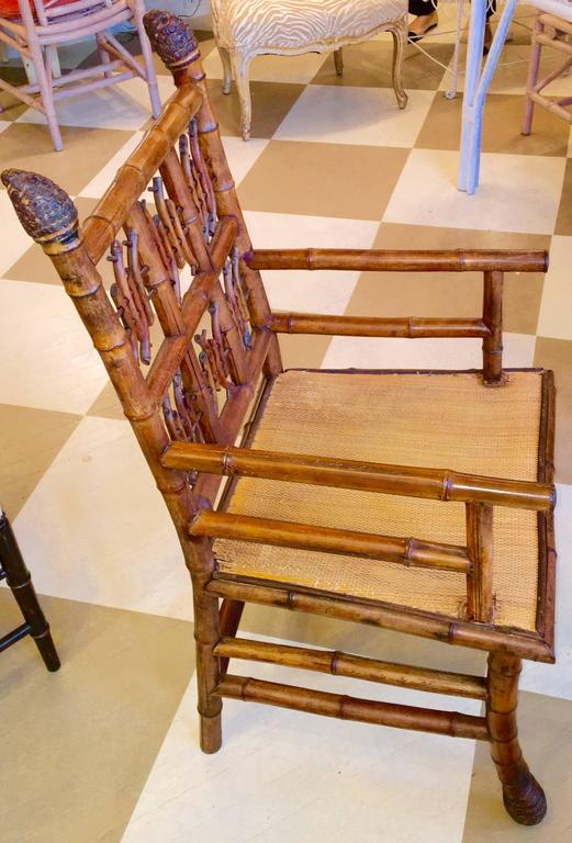 Pair of 19th Century Regency Style Root Bamboo Armchairs In Excellent Condition For Sale In Southampton, NY