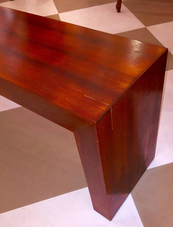 Mid-Century Modern American Mid-Century Solid Mahogany Bench For Sale