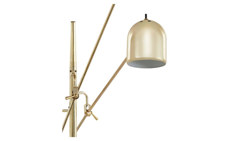 vintage three arm floor lamp at 1stdibs. Black Bedroom Furniture Sets. Home Design Ideas
