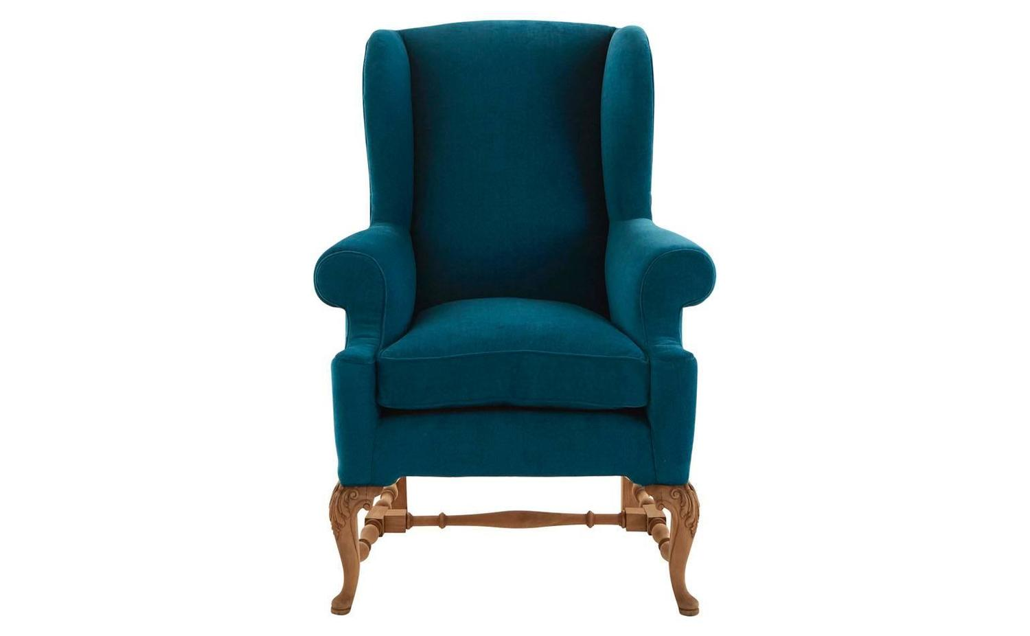 Antique French Wing Chair For Sale at 1stdibs