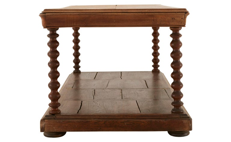 Victorian Herringbone Inlay French Draper's Table For Sale