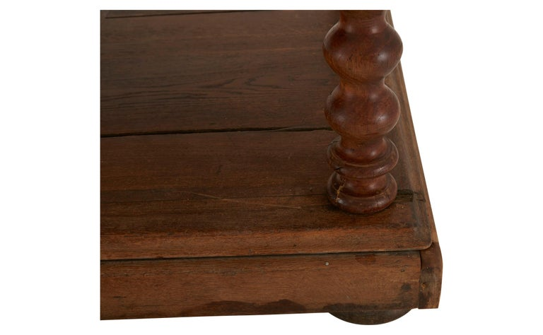 Herringbone Inlay French Draper's Table For Sale 3