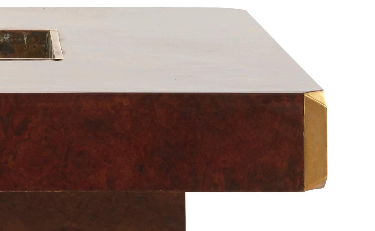 Vintage Willy Rizzo Burl Wood Coffee Table At 1stdibs