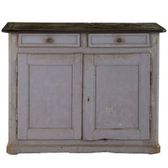 Antique Weathered Grey French Cabinet
