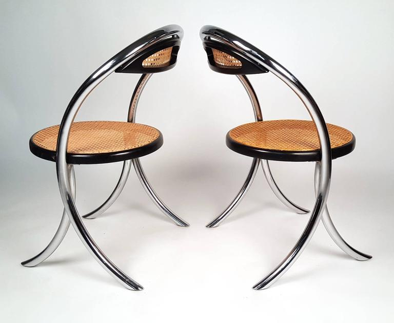Lacquered Four Italian Klismos Chairs For Sale