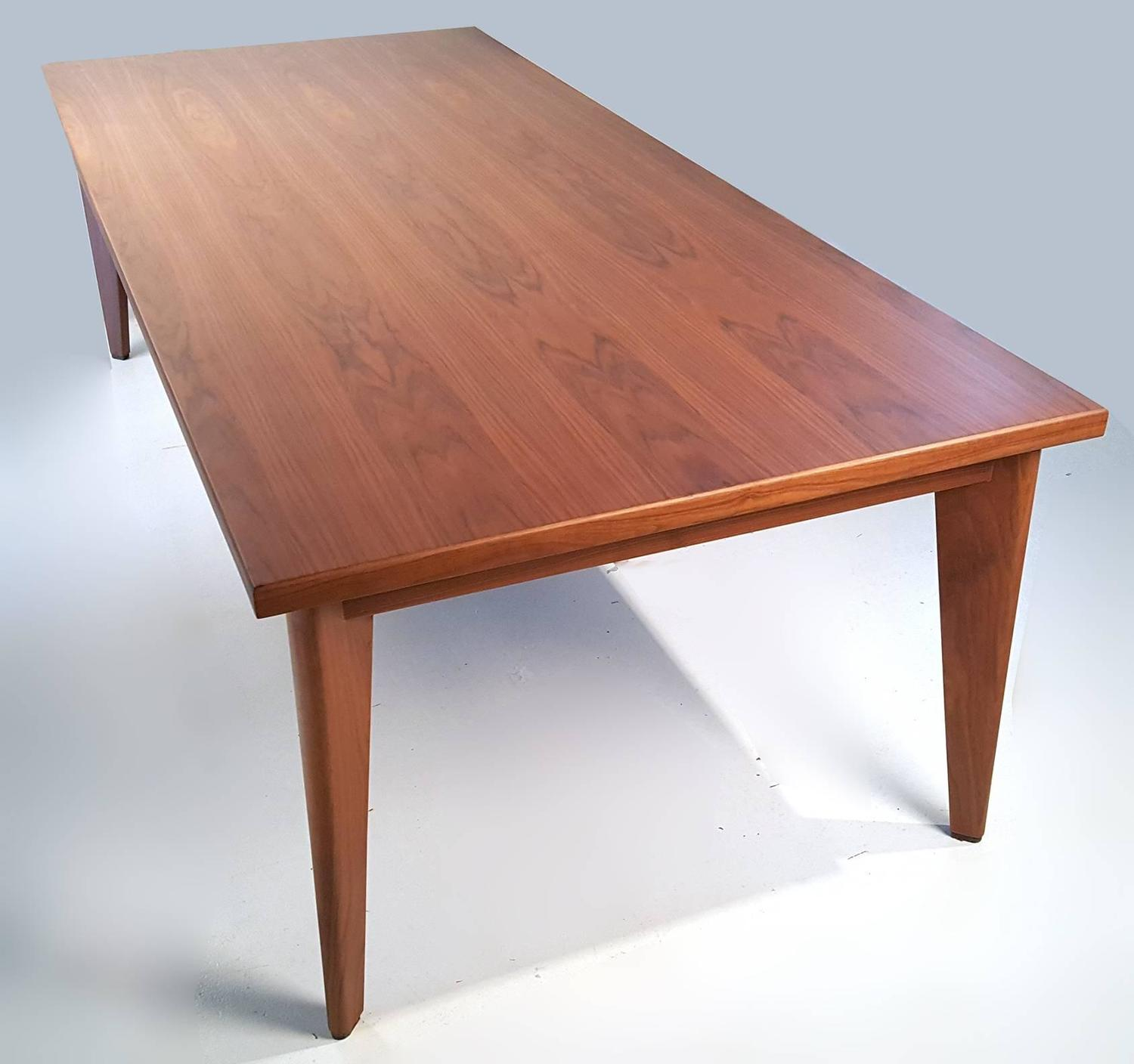 Custom-Made Solid Walnut Dining Table From The Studio Of