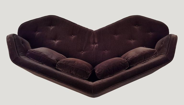 Edward Wormley Janus collection faceted sofa. Sexy from every angle.