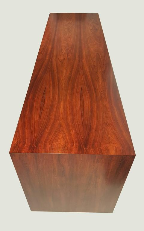 George Nelson Brazilian Rosewood Thin Edge Stereo Cabinet For Sale 4