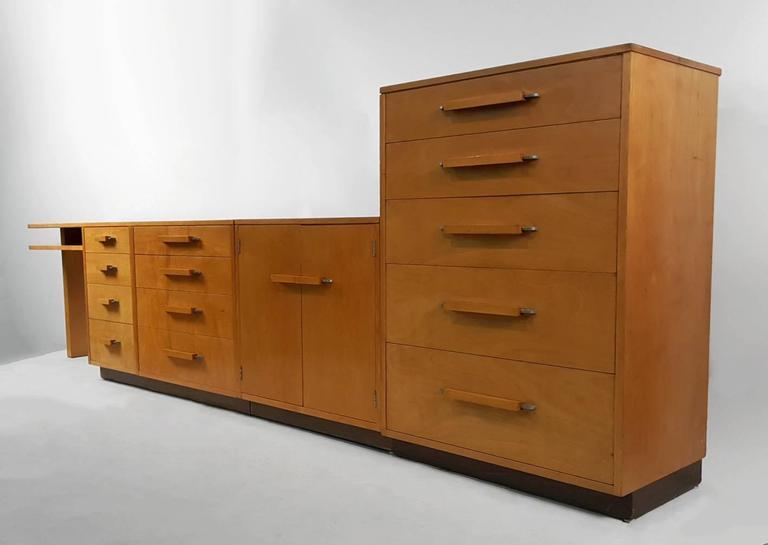 Mid-Century Modern 'Flexible Home Arrangement' Modular Birch Cabinet System by Eliel Saarinen For Sale