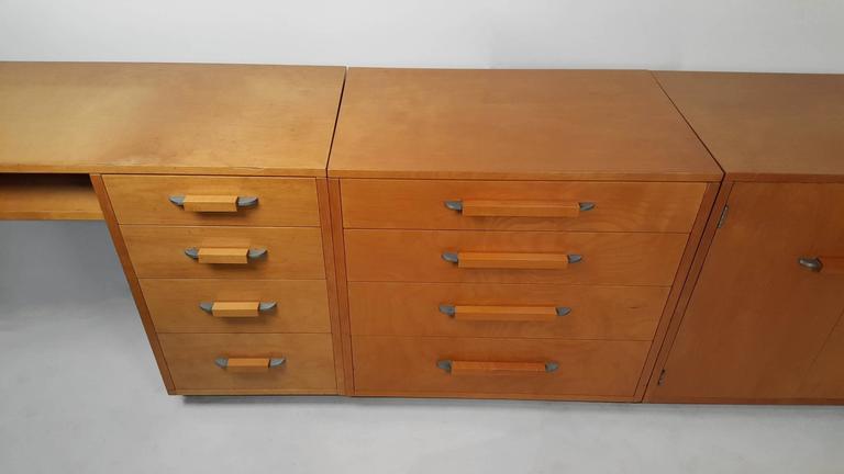 Flexible Home Arrangement Modular Birch Cabinet System