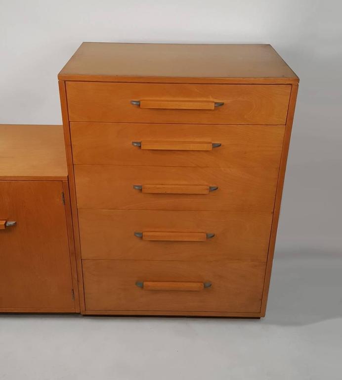 20th Century 'Flexible Home Arrangement' Modular Birch Cabinet System by Eliel Saarinen For Sale