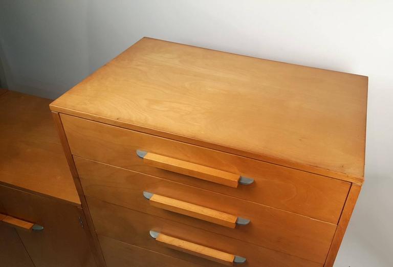 'Flexible Home Arrangement' Modular Birch Cabinet System by Eliel Saarinen For Sale 1
